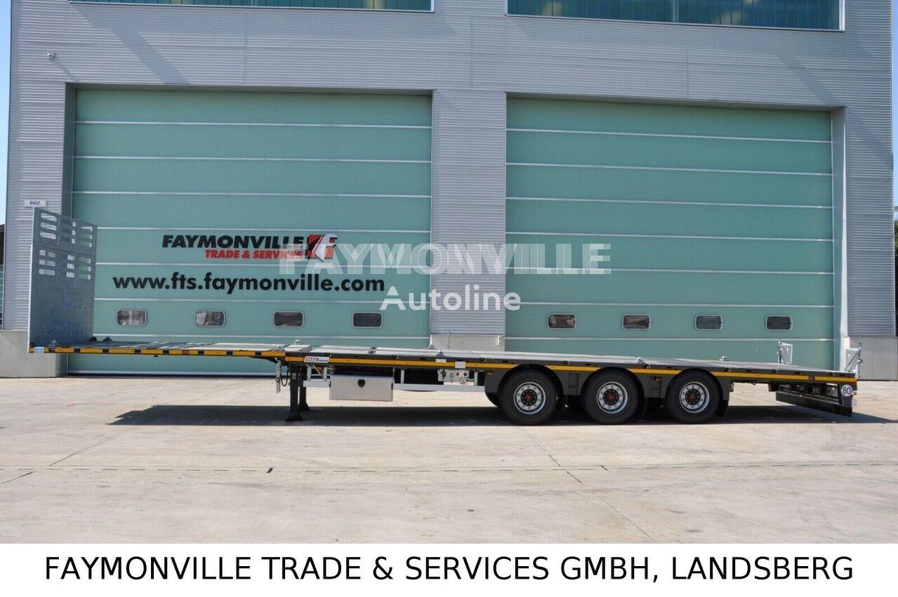 semi-remorque porte-engins FAYMONVILLE Plateauauflieger MAX200-N-3A-13.60-19.5-2.54 neuf