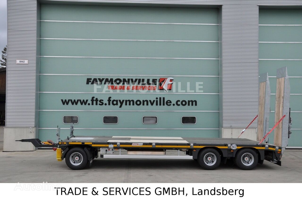 semi-remorque porte-engins FAYMONVILLE Tieflader mit geradem Plateau MAX600-S-3-8.00-U neuf