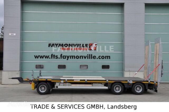 semi-remorque porte-engins FAYMONVILLE Tieflader mit geradem Plateau MAX600-S-3-8.00-U neuve
